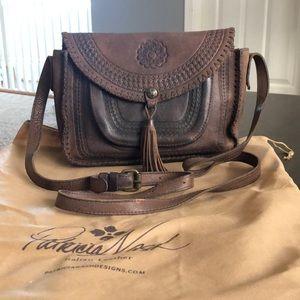 Brown Leather Patricia Nash Crossbody Handbag